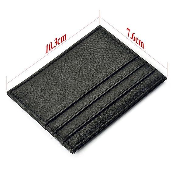 Ularma Moda Tarjeta de crédito Slim soporte Mini cartera ID caso monedero bolso bolsa