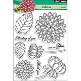 Penny Black Decorative Rubber Stamps, Dahlias (30-159)