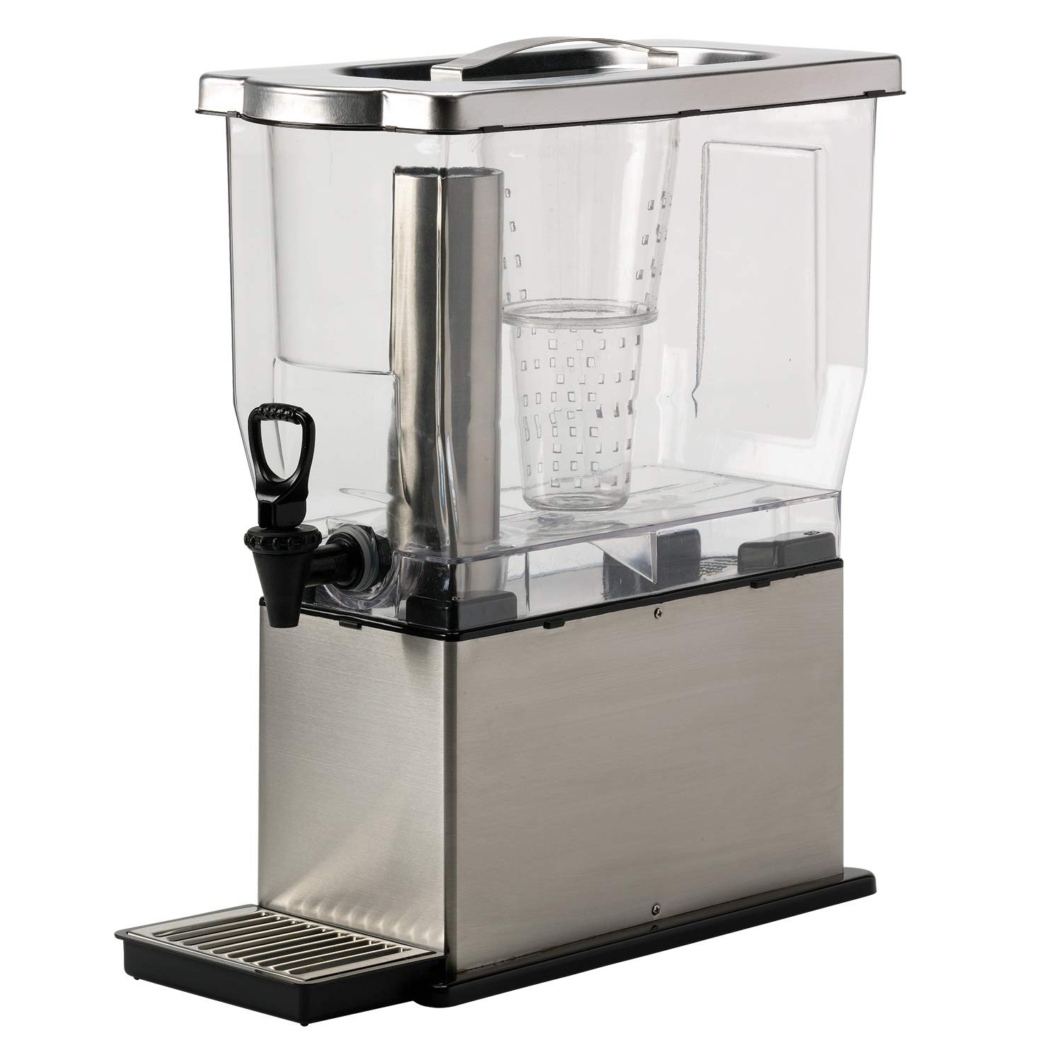 Service Ideas CBDT3SS Cold Beverage Dispenser, Rectangular, 3 Gallon, Silver