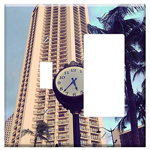 1-Toggle 1-Rocker/GFCI Combination Wall Plate Cover - Hyatt Regency Hotel Building Hawaii Honolulu