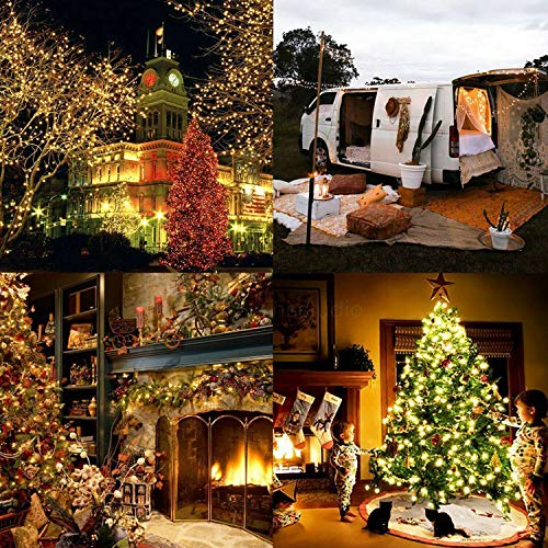 DeepDream 66ft 200 LEDs Fairy Light Battery Powered String Lights Copper Wire 8 Modes Twinkle, Remote Control with Timer… 6