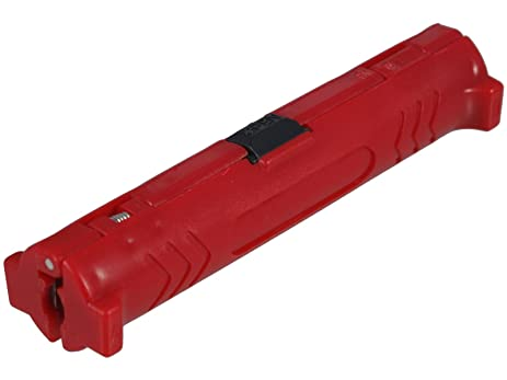 Diverse - Red Coaxial Cable Stripping Tool For Easy Stripping Of All Common Coaxial Cables