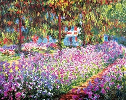 Amazon Com Global Prints Le Jardin De Monet At Giverny By Claude