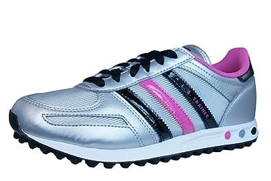 save off 26071 41157 Adidas LA Trainer K Q33594 Unisex - Kinder Sneakers  Freizeitschuhe   Kinderschuhe Silber 28,