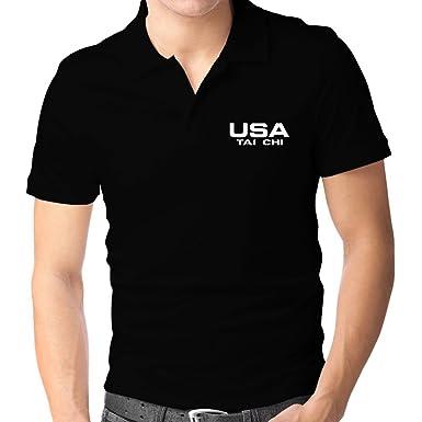 Teeburon USA Tai Chi Athletic America Polo Camisa: Amazon.es: Ropa ...