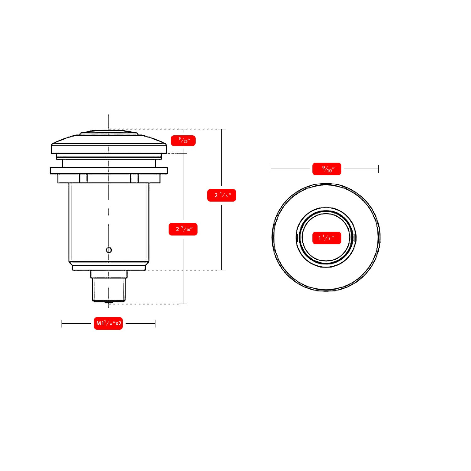 Air Activated Switch Button with Air Hose, Sink Garbage Disposal Parts (BRUSHED STAINLESS STEEL) by CLEESINK (Image #4)