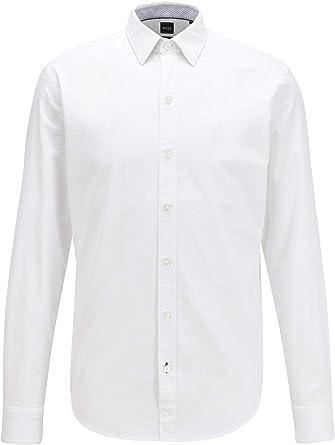 Hugo Boss - Camisa Hombre Blanca para: Hombre Color: Blanco ...