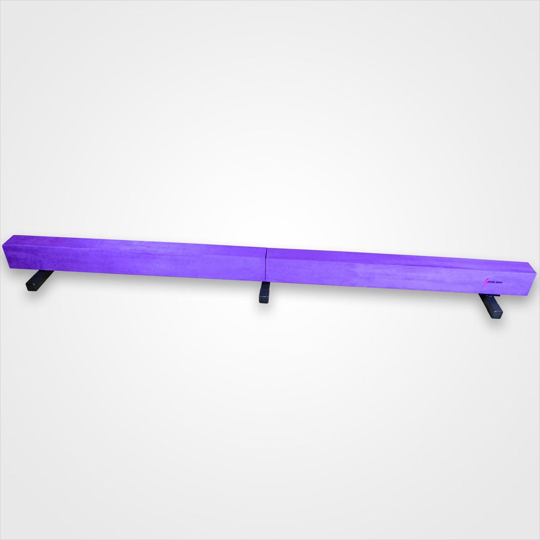 Pink Adjustable (3'-5') Horizontal Bar and 8ft Folding Mat Balance Beam Combo Gym Set by Joom Beem