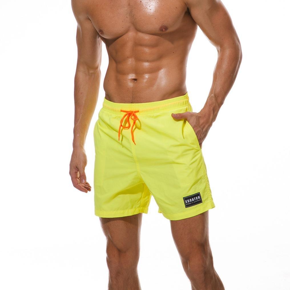 OWMEOT Mens Bodybuilding Gym Running Workout Shorts Active Training Shorts