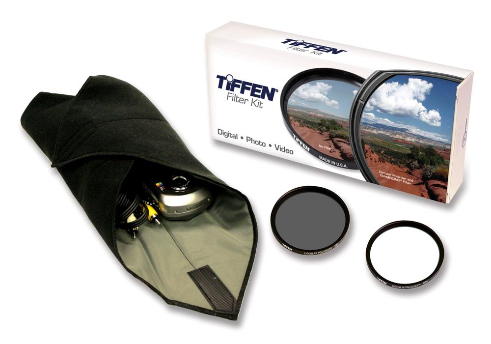 Tiffen 67mm Lens Kit includes Digital Ultra Clear Filter, plus Circular Polarizer Filter and Accessory Wrap