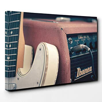 Arty lienzo de pie para guitarra eléctrica y amplificador (1), madera, multicolor, 101 x 71 x 3 cm: Amazon.es: Hogar