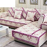 Four Seasons Garden Sofa Cushions/Fabric Slip Sofa Cushions/European-style Sofa Towel/Solid Wood Leather Sofa Cover A Full-C 70x180cm(28x71inch)