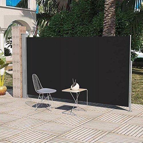 Daonanba Practical Patio Terrace Useful Side Awning 63''x118'' Black by Daonanba