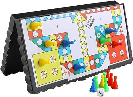 Larcele Juego de mesa tradicional Lude para principiantes Juegos de interior Juego de viaje plegable Family Gaming FXQZ-01: Amazon.es: Coche y moto