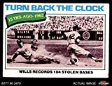 1977 Topps # 435 Turn Back The Clock Maury Wills Los Angeles Dodgers (Baseball Card) Dean's Cards 2 - GOOD Dodgers