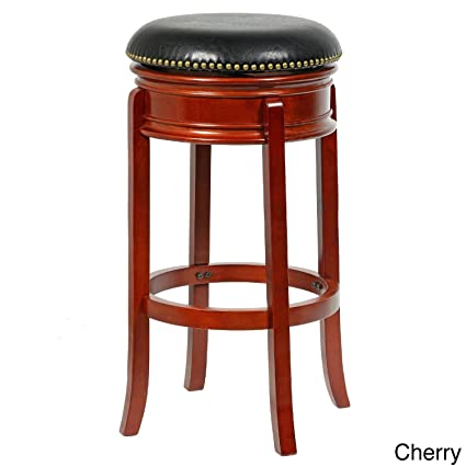 Amazoncom Bristol 34 Inch Height Swivel Bar Stool Cherry Finish