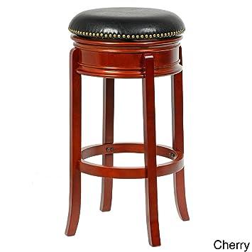 Stupendous Bristol 34 Inch Height Swivel Bar Stool Cherry Finish Unemploymentrelief Wooden Chair Designs For Living Room Unemploymentrelieforg