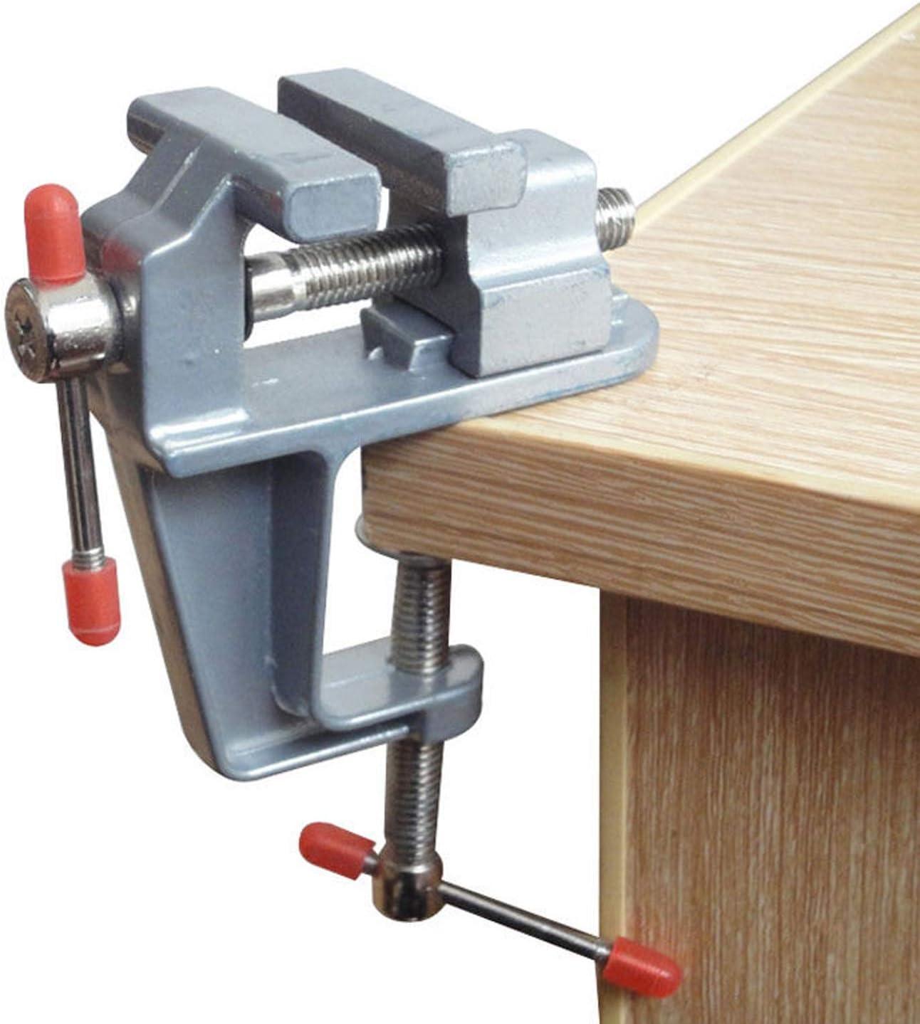 Amatt, verstellbarer Mini Schraubstock mit Klemme für Tischbank, Hobby