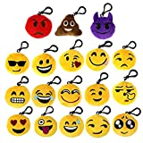 "Pack of 54, The Elixir Party 2"" Mini Emoji Keychain Cushion Pillow Set Party Supplies, Clawmachine Refill Prizes, Pinata Filler for Kids, No-Repeated"