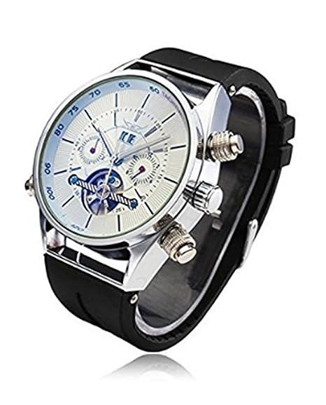 JARAGAR hombres de la analógica Magic intercambiables Cristal luminoso manos automático reloj mecánico