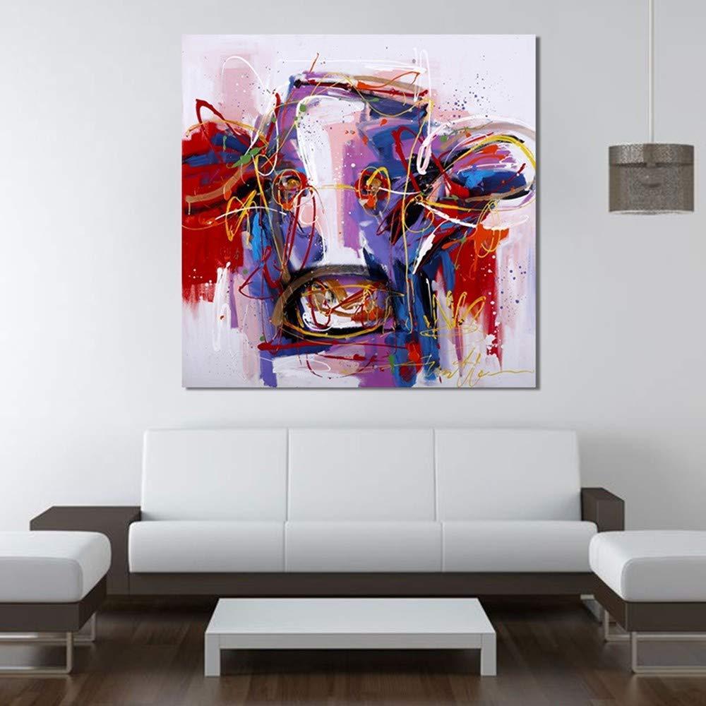 WHUI pintura al óleo dibujado Arte abstracto elegante 100% dibujado óleo a mano pintura al óleo abstracta decoración de la pared del arte mural 8eaf9d