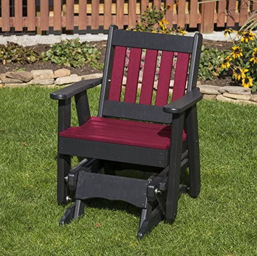 CHERRYWOOD-POLY LUMBER MISSION 2 Feet Glider EVERLASTING – MADE IN USA – AMISH CRAFTED