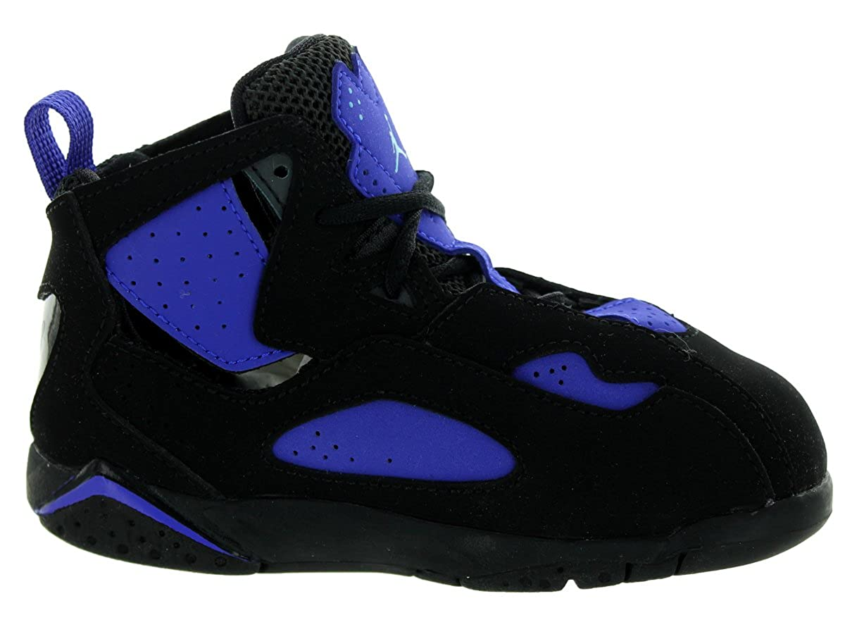 bca6b081f28 Amazon.com   Nike Jordan Toddlers Jordan True Flight Bt Black/Bl Lgn/Anthrct/Brght  Cncr Basketball Shoe 6 Infants US   Shoes