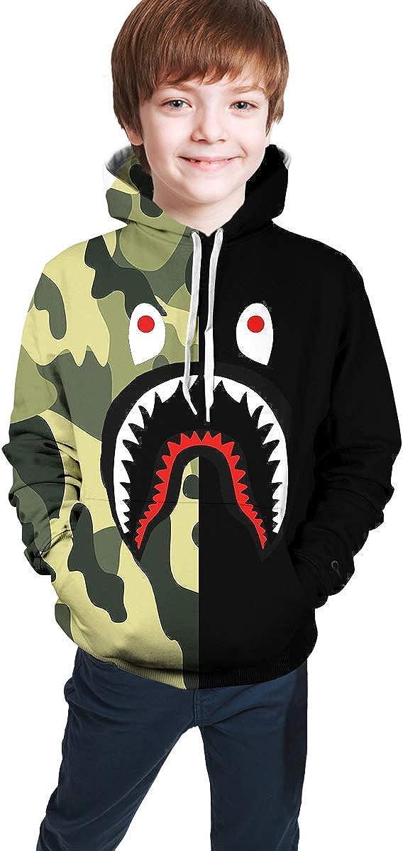 Childrens Hoodies Blood Shark 3D Print Unisex Pullover Hooded Sweatshirts for Boys//Girls//Teen//Kids