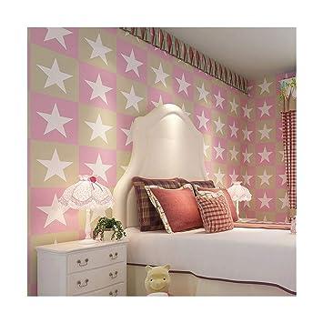 Papier Peint Chambre Garçon Et Fille Vent Britannique étoile à Cinq  Branches Papier Peint Non Tissé
