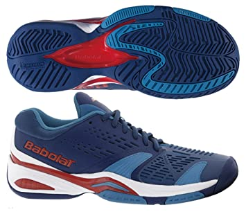 Amazon.com: Babolat SFX All Court Mens Tennis Shoes (Blue/Red) (10 ...
