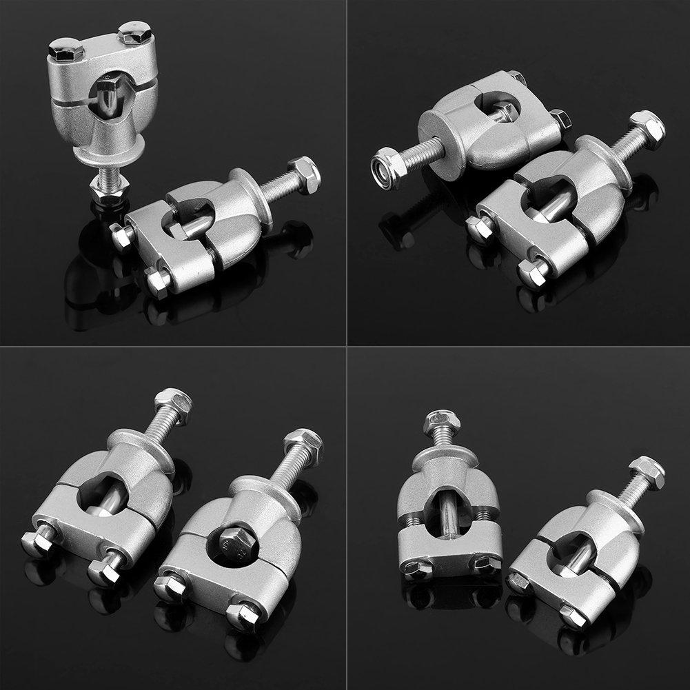 2 St/ück//Paar 7//8zoll 22mm Lenkerhalterung Riser Clamp Universal Silber Lenkerklemme Riser f/ür Motorrad Dirt Bike ATV