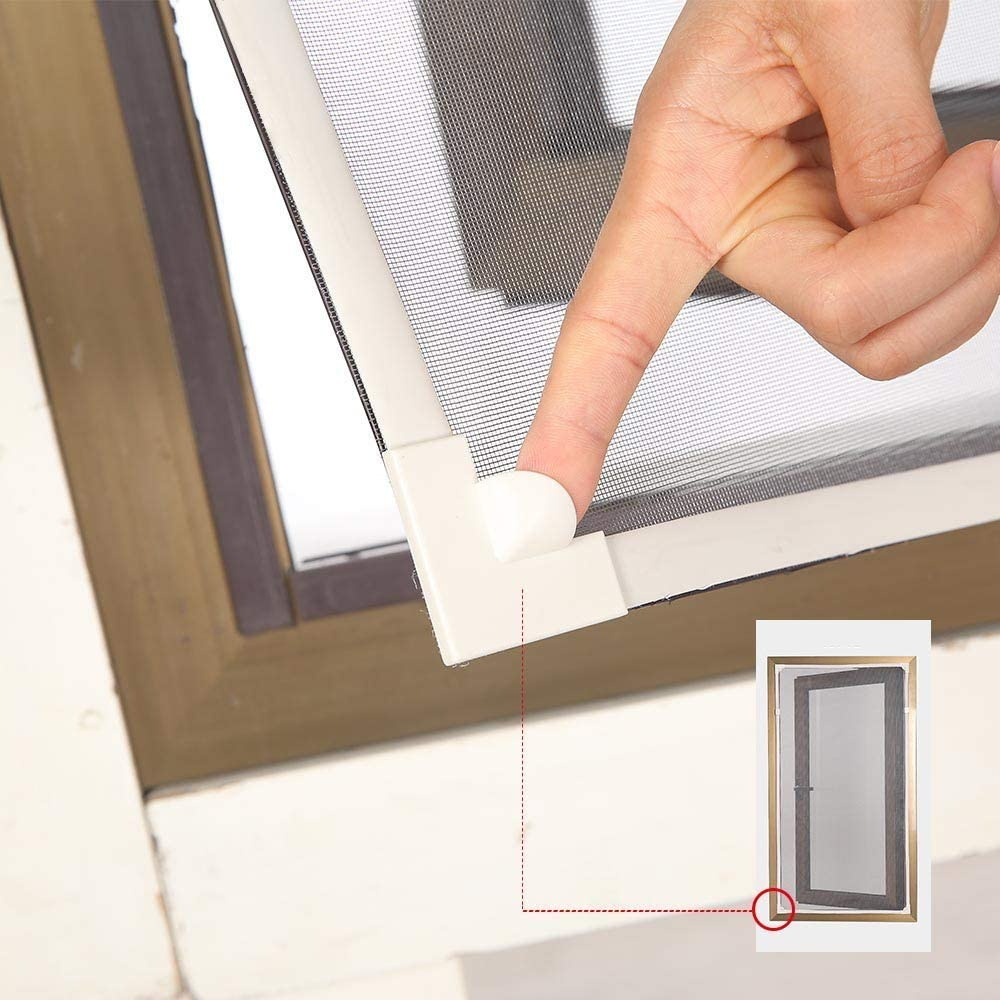 Magnetic Window Screen Size Up to 55x 36 Max Brown DIY Screen Window with Full Frame Magnetic Strip Easy Installation