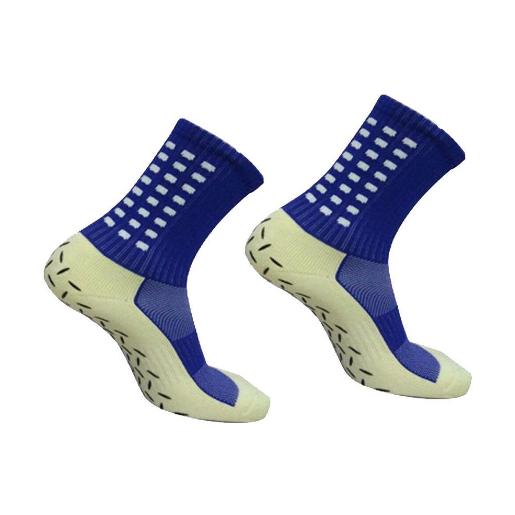 WINOMO Men Sports Anti-Slip Football Socks Soccer Short Stockings (Blue)