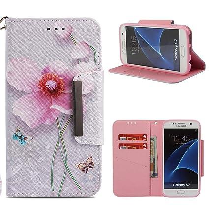 Firefish Galaxy S7 Case,Slim Flip 3D Printing Wallet [Kickstand] Case [Shockproof