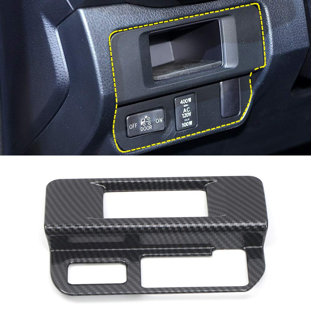 YUZHONGTIAN 2016-2020 for Toyota Tacoma Car Accessories Fog Light Switch Control Button Panel Cover Trims NOT Fit RHD Carbon Fiber Color