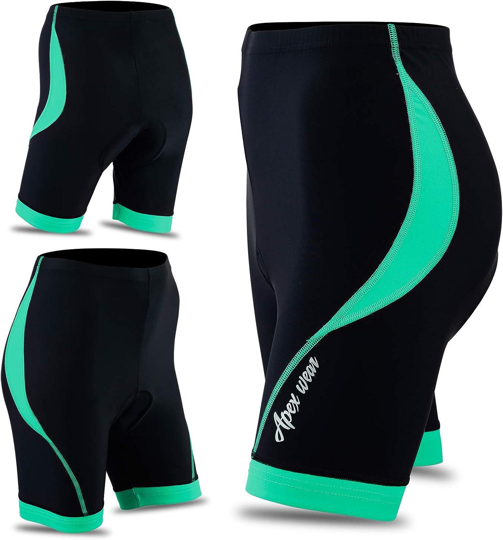 Women Cycling 3//4 Shorts Padded Ladies Leggings Cool Max Anti Bac Pad