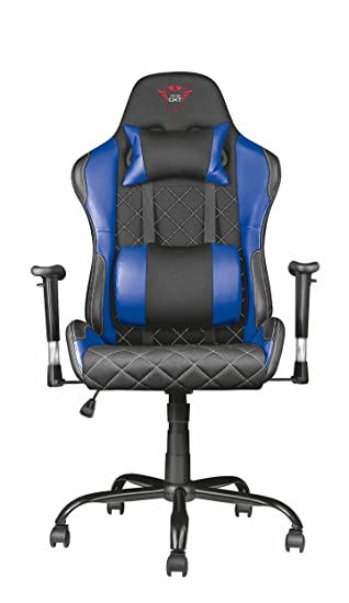 Trust Gaming GXT 707B Resto - Silla para Gaming, Color Azul: Amazon.es: Informática