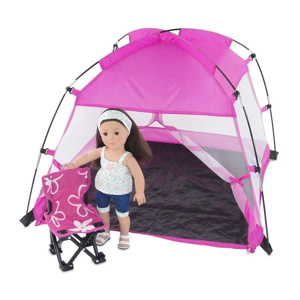 Amazon.com 18 Inch Doll Accessories | Amazing Pink Dining Canopy C&ing Tent includes Matching Carry Case | Fits American Girl Dolls Toys u0026 Games  sc 1 st  Amazon.com & Amazon.com: 18 Inch Doll Accessories | Amazing Pink Dining Canopy ...