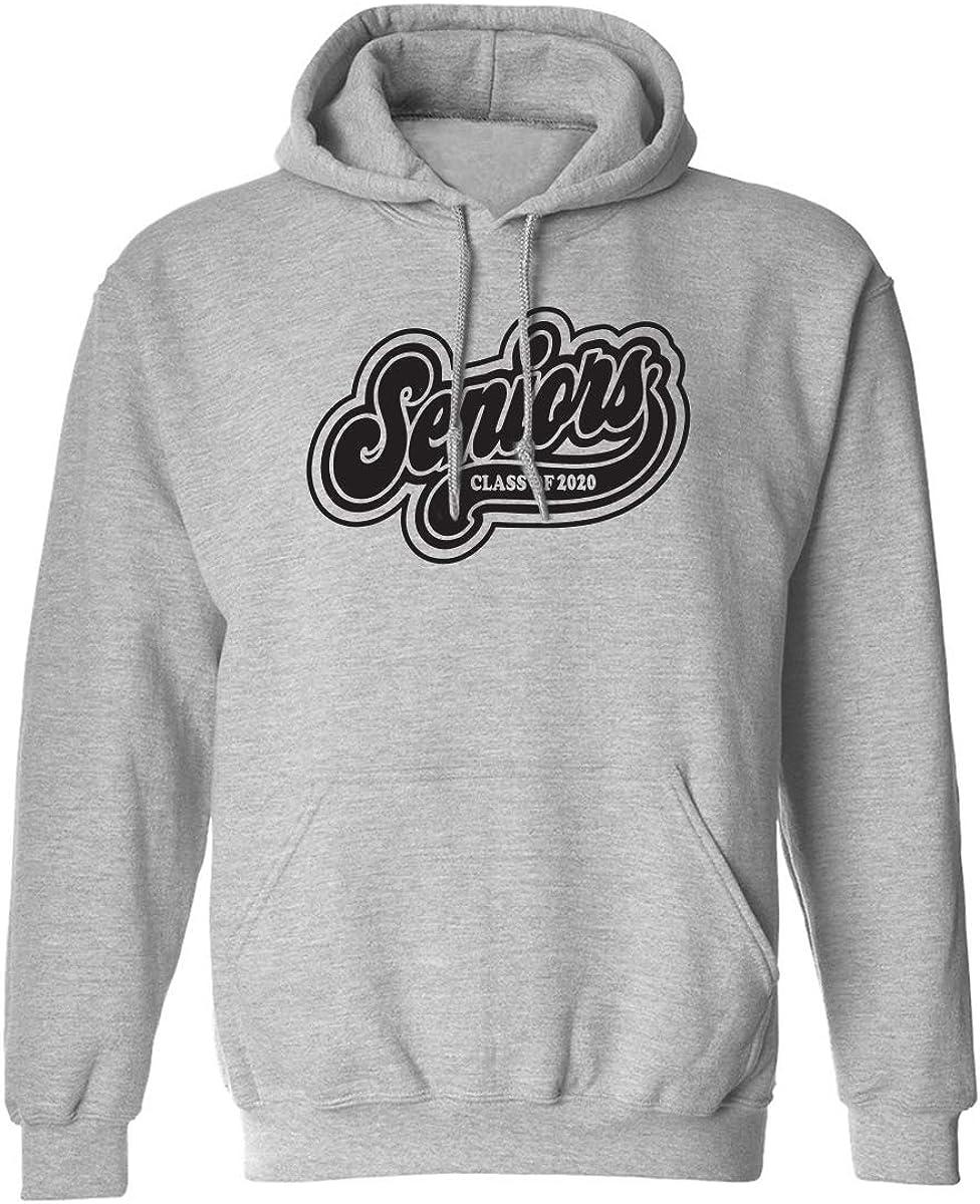 zerogravitee Seniors 2020 Athletic Script Adult Hooded Sweatshirt