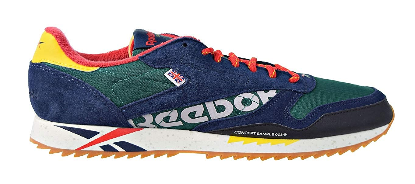 Reebok Mens Classic Leather Ripple Sneaker, Adult, Outdoor Classicover GreenPrim
