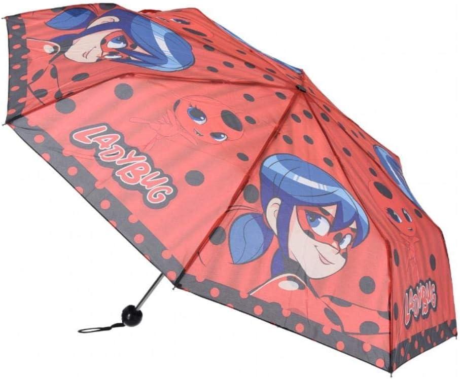 Miraculous Ladybug Kinder M/ädchen Taschen-Regenschirm