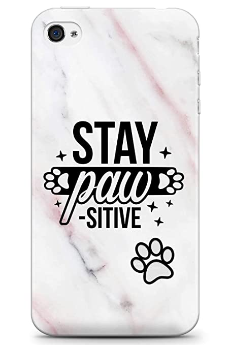 Amazon Com Iphone 4 Iphone 4s Case Stay Pawsitive Dog Quote