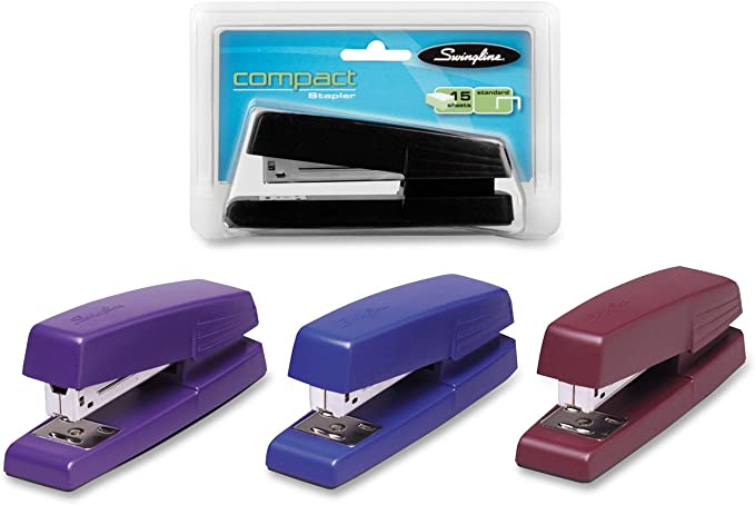 S7079175C 15 Sheet Capacity Color May Vary Swingline Anywhere Stapler Assorted Colors