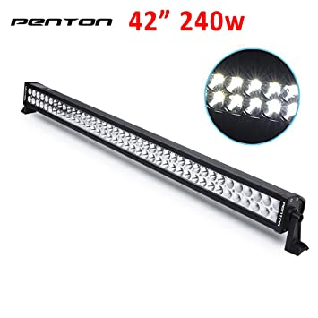 Amazon penton 240w 42 inch 10v 30v led light bar work lights penton 240w 42 inch 10v 30v led light bar work lights flood spot combo mozeypictures Gallery