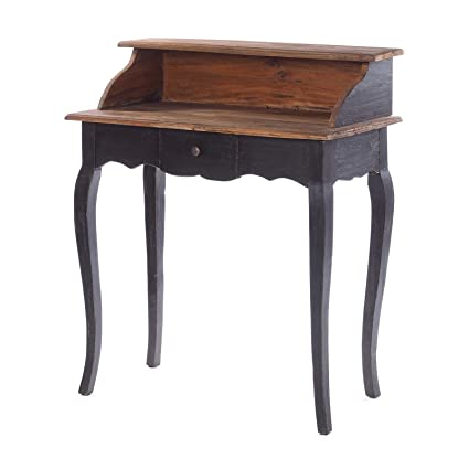 Antiquitäten & Kunst Stilmöbel nach 1945 Massivholz Sekretär schwarz antik Vintage Schreibtisch Konsolentisch Flurtisch