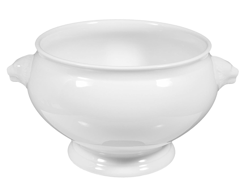 Seltmann Weiden Zuppiera 26,5cm lukullus White Uni 00006, Porcellana, 1 pezzo
