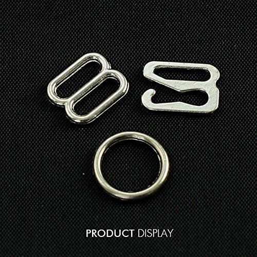 20set Metal Silver Plated Lingerie Hardware Sewing Clips Hooks Eye for Bra Strap 10mm Sewing Accessories WB94 Resources House