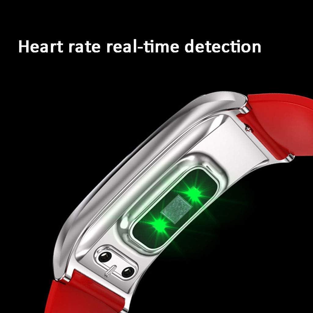 Smartwatch a colori con cinturino a colori multifunzione impermeabile di sorveglianza sanitaria, smartwatch smartwatch (Bule + grigio, grande, u0026 :, E: M) D