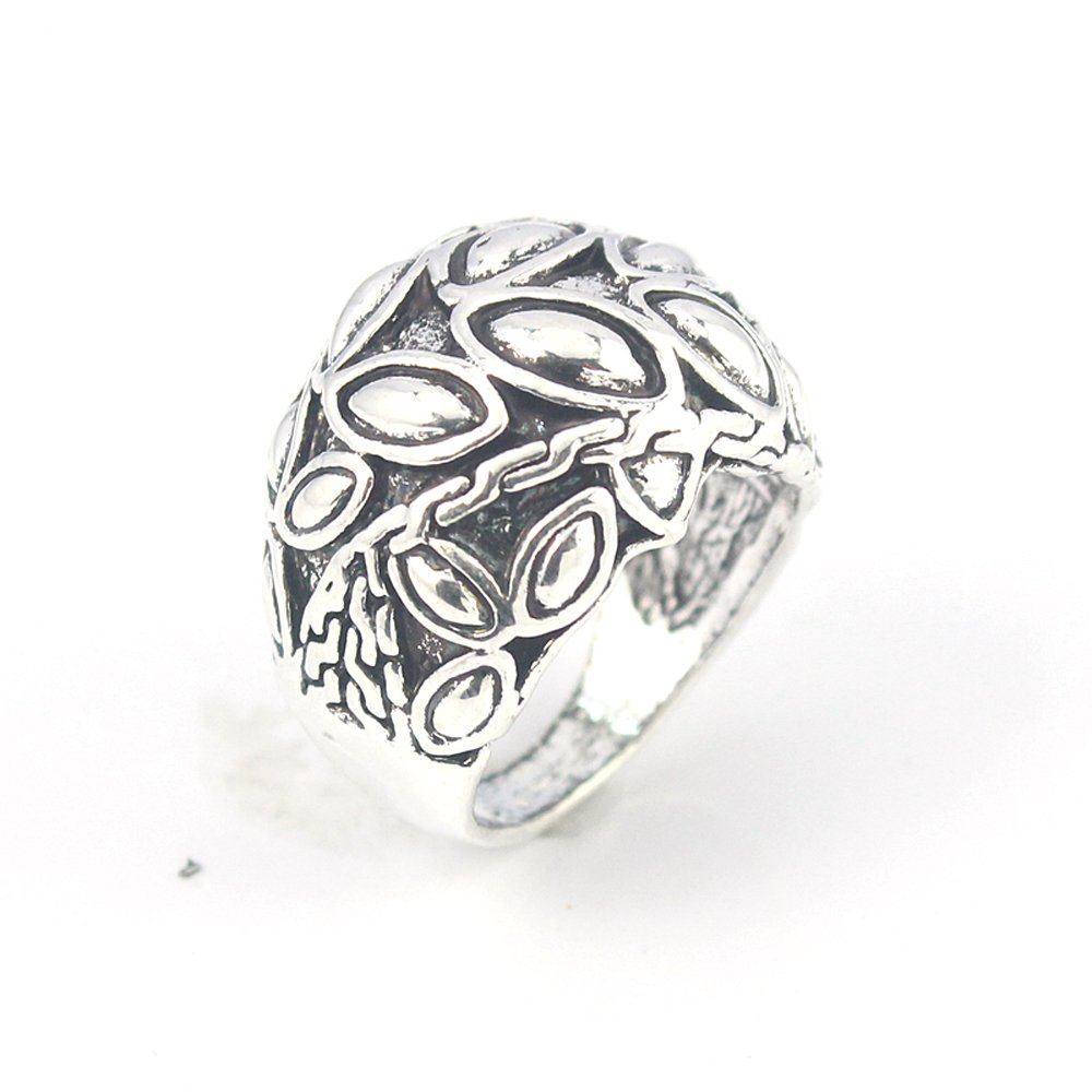 PLAIN FASHION JEWELRY .925 SILVER PLATED RING 7 S23642