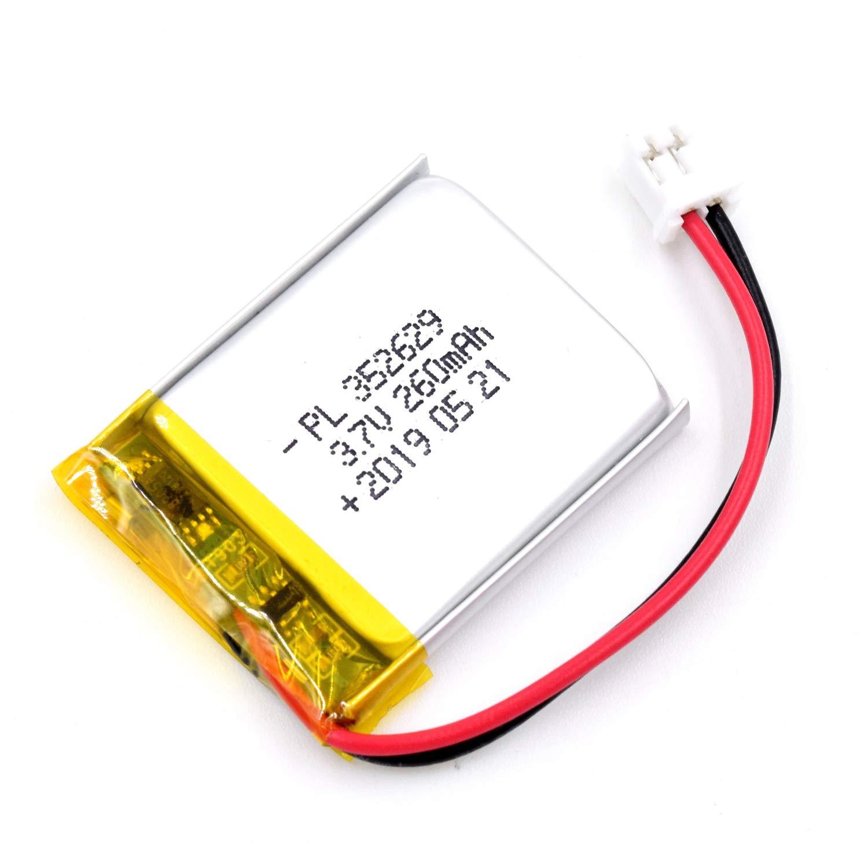 Bateria Lipo 3.7V 260mAh 352629 Recargable JST Conector
